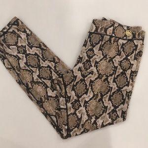 Snake print leggings
